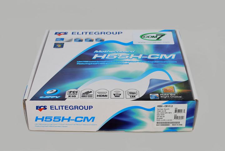 Коробка с материнской платой H55H-CM