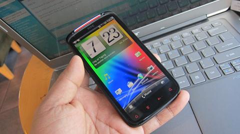 HTC Sensation XE with MacBook