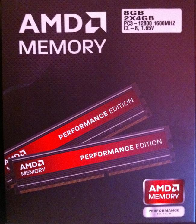 DDR3-1600 AMD Memory 2x4 Гб