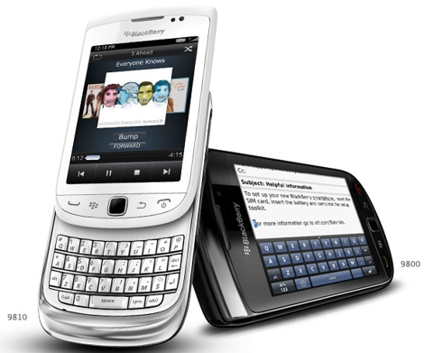 Blackberry Torch 9810 серебристый