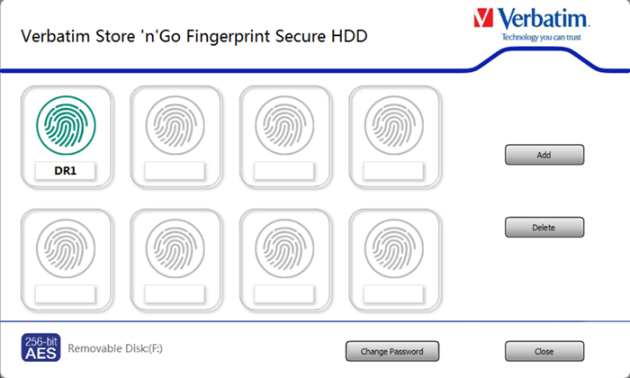 Verbatim Fingerprint Secure Hard Drive