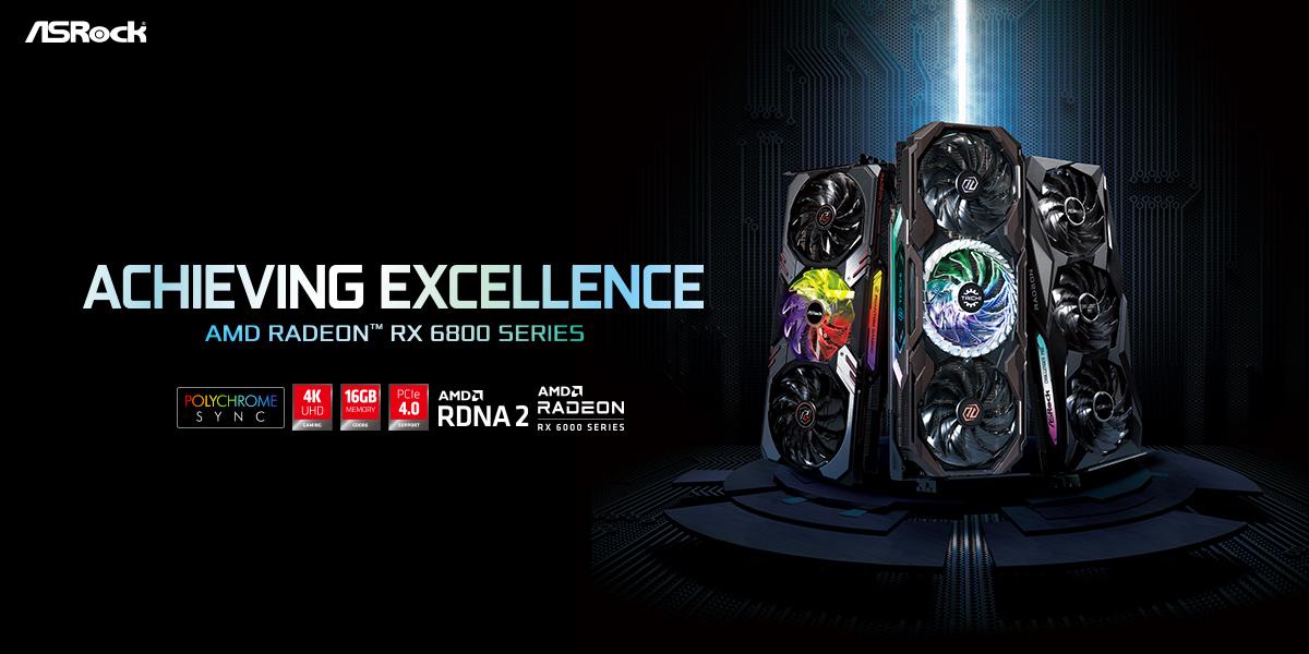 Видеокарты AMD Radeon RX 6800 от ASRock