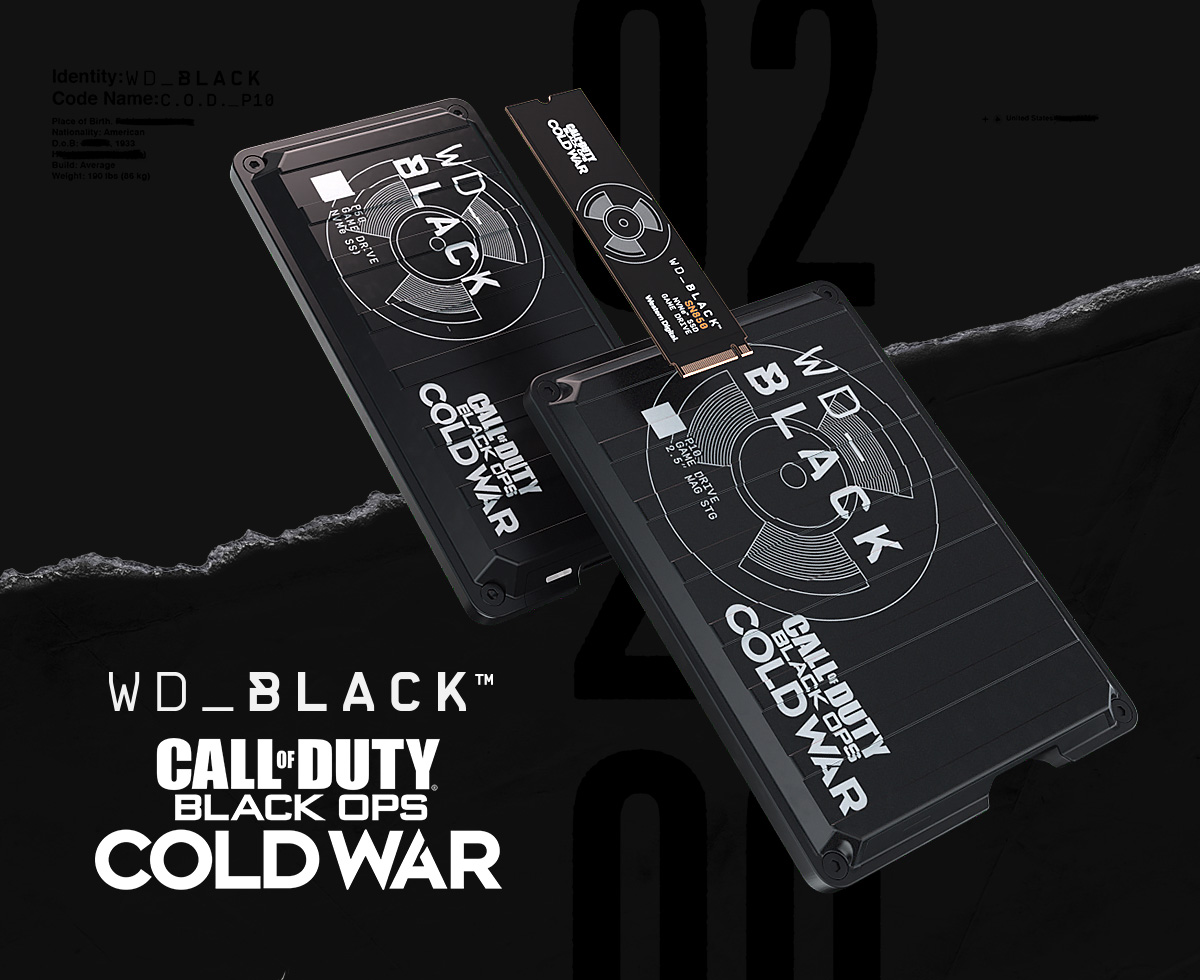 Western Digital представила коллекцию WD_Black Call of Duty Black Ops Cold War