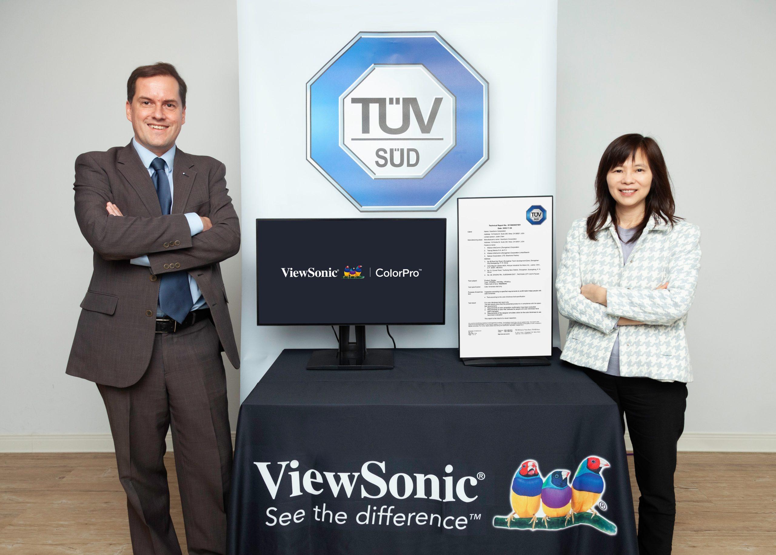 ViewSonic и TUV SUD работают над мониторами для пользователей с дальтонизмом