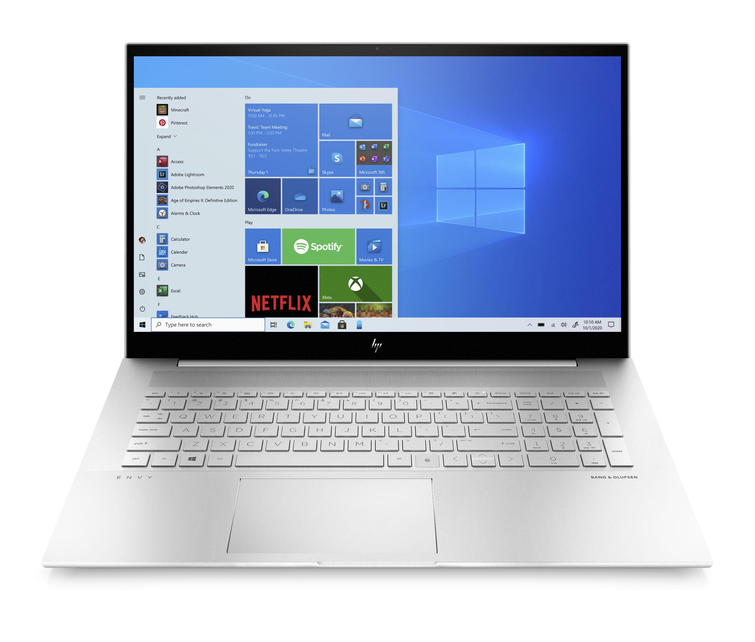 HP представила новые ноутбуки ENVY