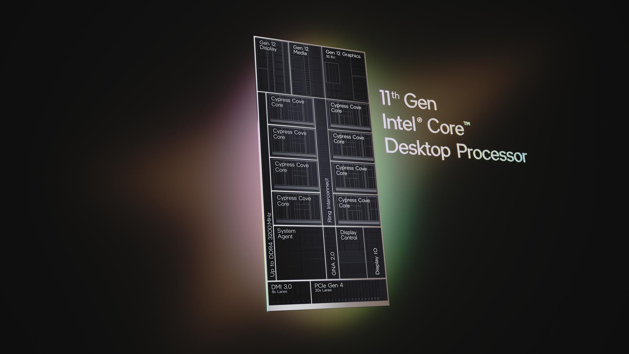 Intel представила процессоры Intel Core 11-го поколения для настольных ПК