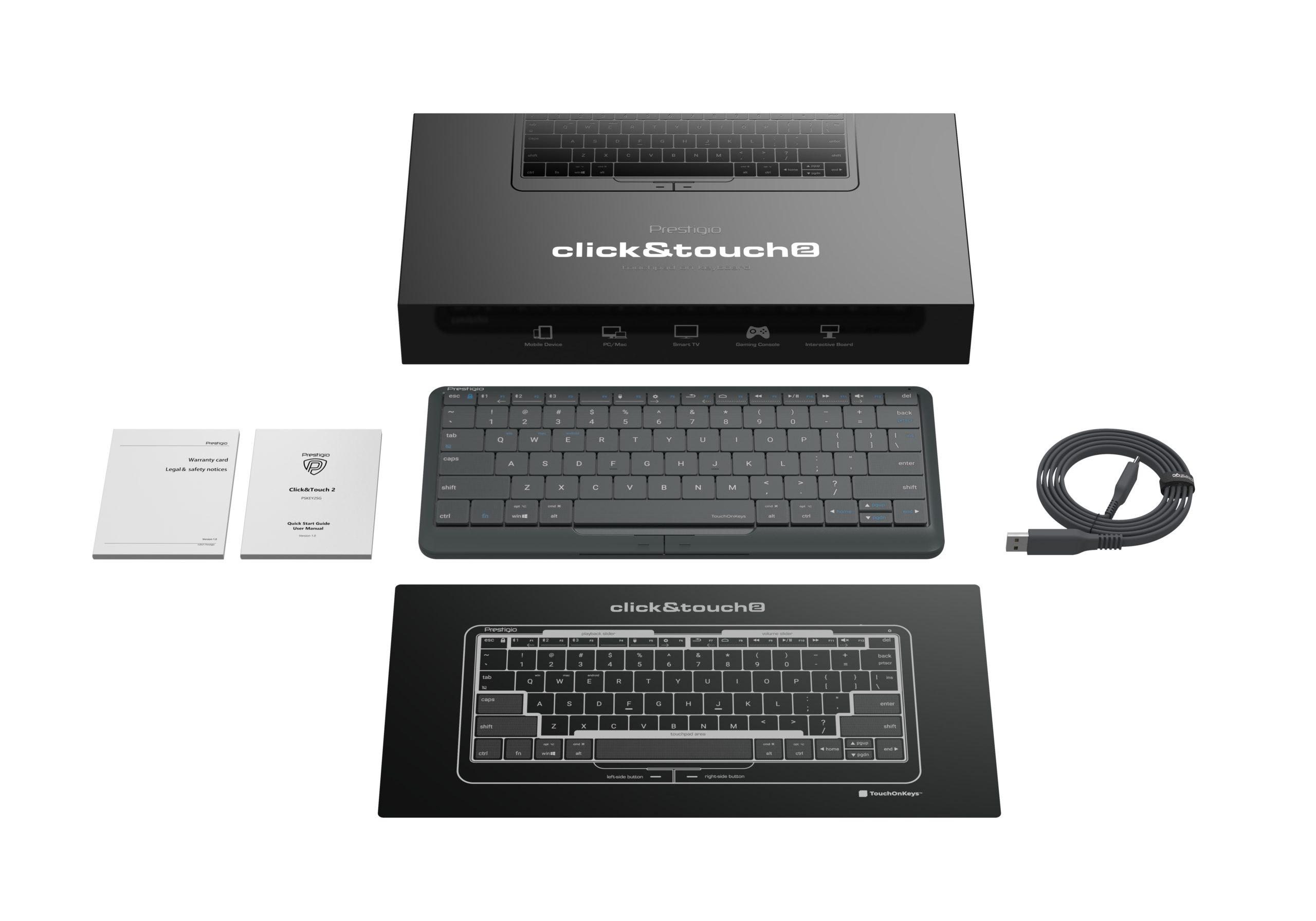 Cмарт-клавиатура и тачпад Click&Touch 2 от Prestigio