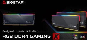 BIOSTAR представила новые модули памяти серии RAM DDR4 RGB Gaming X