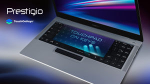Prestigio и Clevetura представляют первый в мире ноутбук с тачпадом в клавиатуре