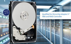 Новые жёсткие диски Toshiba объёмом 18 ТБ квалифицированы для использования с HBA и RAID-адаптерами Adaptec®