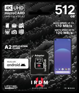 Новые скоростные карты памяти GOODRAM IRDM M2AA microSD